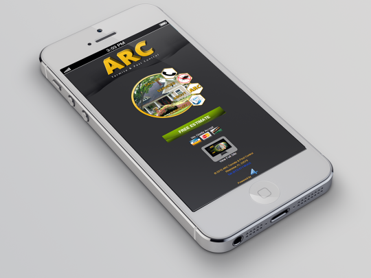 mobile optimized site for pest control