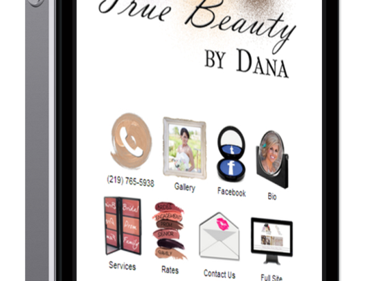 Makeup Artist Website for Phone