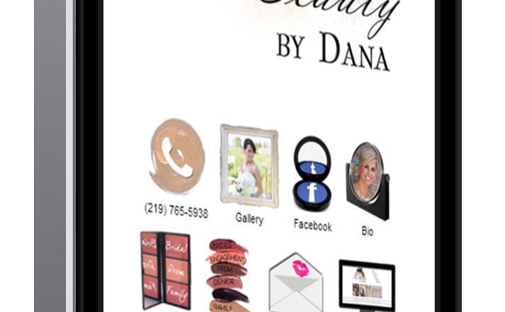 Makeup Artist Website for Phone